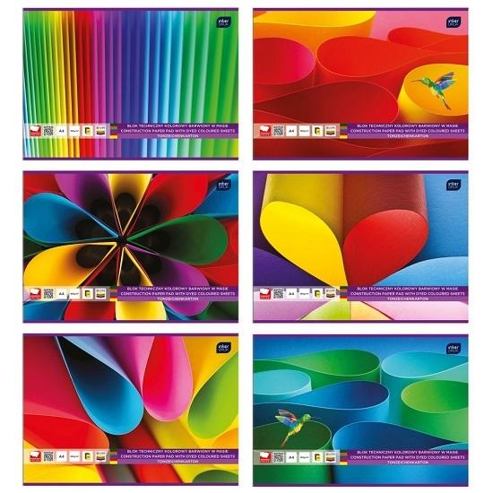 Blok techniczny A4/20k - kolorowy